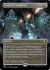 Council's Judgment (Borderless), Magic: The Gathering, Double Masters