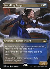 Meddling Mage (Borderless), Magic: The Gathering, Double Masters