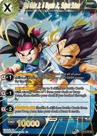 Son Goku Jr. & Vegeta Jr., Saiyan Scions, Dragon Ball Super CCG, Special Anniversary Set 2020