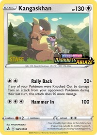 Kangaskhan - SWSH038 (Prerelease Promo) [Staff], Pokemon, SWSH: Sword & Shield Promo Cards