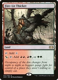 Fire-Lit Thicket, Magic, Double Masters