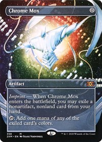 Chrome Mox (Borderless), Magic: The Gathering, Double Masters