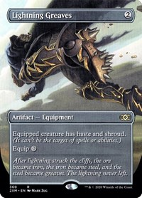 Lightning Greaves (Borderless) (Foil)