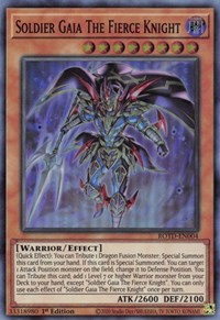 Soldier Gaia The Fierce Knight, YuGiOh, Rise of the Duelist