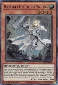 Dogmatika Ecclesia, the Virtuous, YuGiOh, Rise of the Duelist