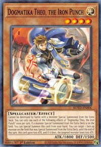 Dogmatika Theo, the Iron Punch, YuGiOh, Rise of the Duelist