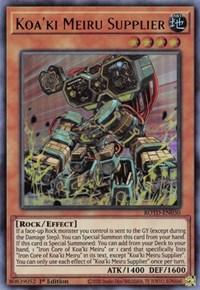 Koa'ki Meiru Supplier, YuGiOh, Rise of the Duelist
