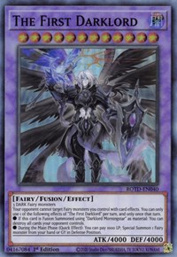 The First Darklord, YuGiOh, Rise of the Duelist
