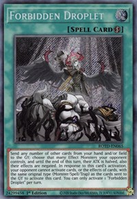 Forbidden Droplet, YuGiOh, Rise of the Duelist