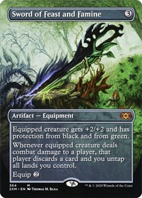Sword of Feast and Famine (Borderless), Magic: The Gathering, Double Masters