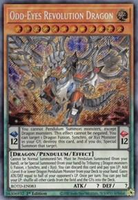 Odd-Eyes Revolution Dragon ROTD-EN083 Secret Rare 1st Ed Rise of The Duelist YGO