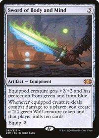 BORDERLESS DOUBLE MASTERS VIP Magic MTG PP x1 FOIL SWORD OF BODY AND MIND 363