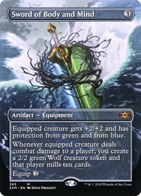 Sword of Body and Mind (Borderless), Magic: The Gathering, Double Masters