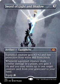 Sword of Light and Shadow (Borderless), Magic: The Gathering, Double Masters