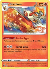Blaziken, Pokemon, SWSH03: Darkness Ablaze