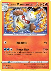 Galarian Darmanitan (28), Pokemon, SWSH03: Darkness Ablaze