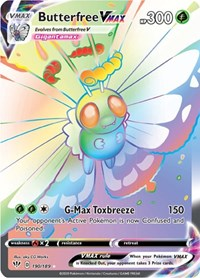 Butterfree VMAX (Secret), Pokemon, SWSH03: Darkness Ablaze