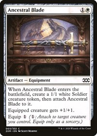Ancestral Blade, Magic: The Gathering, Double Masters