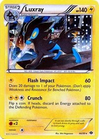 Luxray - 46/99 (Cracked Ice Holo), Pokemon, Blister Exclusives