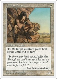 Icatian Scout, Magic, Fifth Edition