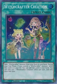 MP20-EN224 Witchcrafter Madame Verre Super Rare 1st Edition Mint YuGiOh Card