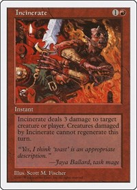 Incinerate, Magic: The Gathering, Fifth Edition