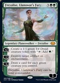 Freyalise, Llanowar's Fury, Magic, Commander Collection: Green