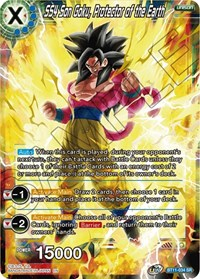 SS4 Son Goku, Protector of the Earth, Dragon Ball Super CCG, Vermilion Bloodline