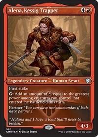 Alena, Kessig Trapper (Foil Etched), Magic: The Gathering, Commander Legends