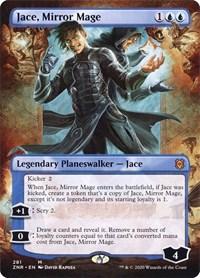 Jace, Mirror Mage (Borderless), Magic, Zendikar Rising