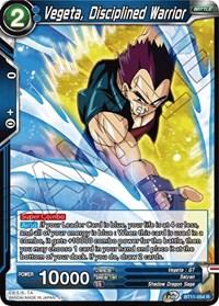 Vegeta, Disciplined Warrior, Dragon Ball Super CCG, Vermilion Bloodline