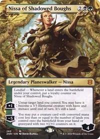 Nissa of Shadowed Boughs (Borderless), Magic, Zendikar Rising