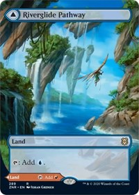 Riverglide Pathway // Lavaglide Pathway (Borderless), Magic, Zendikar Rising