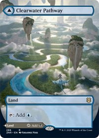 Clearwater Pathway (Borderless), Magic: The Gathering, Zendikar Rising