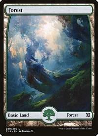 Forest (280) - Full Art, Magic: The Gathering, Zendikar Rising