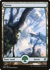 Forest (278) - Full Art, Magic: The Gathering, Zendikar Rising
