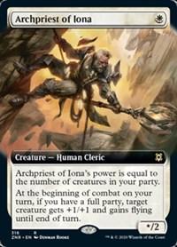 Archpriest of Iona (Extended Art), Magic, Zendikar Rising