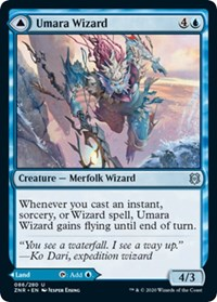 Umara Wizard // Umara Skyfalls, Magic, Zendikar Rising