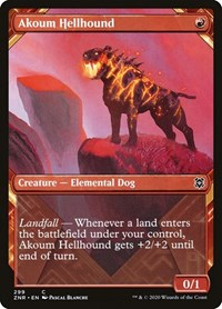 Akoum Hellhound (Showcase), Magic: The Gathering, Zendikar Rising