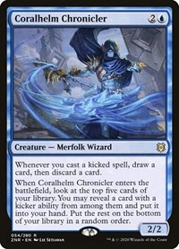 Coralhelm Chronicler, Magic: The Gathering, Zendikar Rising