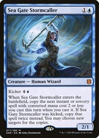 Sea Gate Stormcaller, Magic: The Gathering, Zendikar Rising