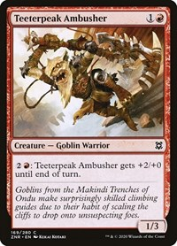 Teeterpeak Ambusher, Magic, Zendikar Rising
