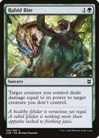 Rabid Bite, Magic, Zendikar Rising