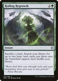 Roiling Regrowth, Magic: The Gathering, Zendikar Rising