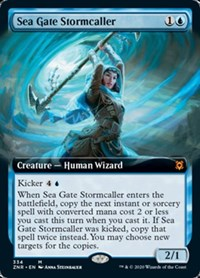 Sea Gate Stormcaller (Extended Art), Magic, Zendikar Rising
