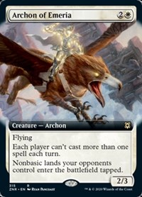 Archon of Emeria (Extended Art), Magic, Zendikar Rising