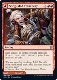 Song-Mad Treachery // Song-Mad Ruins, Magic, Zendikar Rising