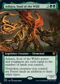Ashaya, Soul of the Wild (Extended Art), Magic, Zendikar Rising