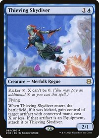 Thieving Skydiver, Magic, Zendikar Rising