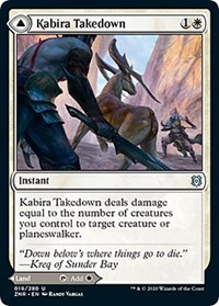 Kabira Takedown // Kabira Plateau, Magic, Zendikar Rising